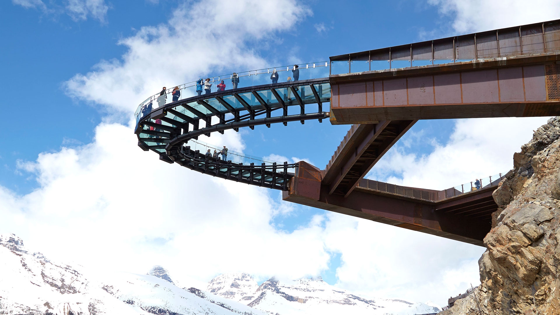 Columbia Icefield Skywalk Construction